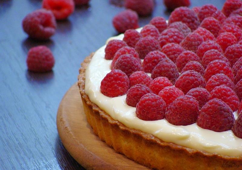Малиновый пирог-рецепт