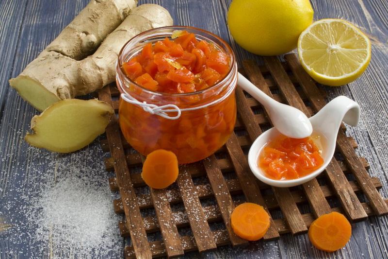 Морковное варенье-рецепт с имбирем