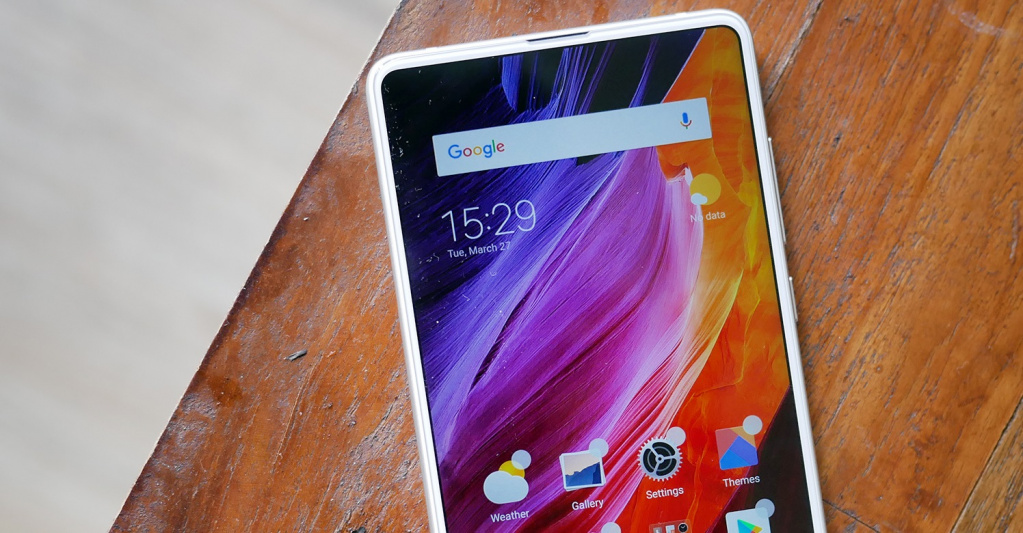 Новинка! Выдвижная фронтальная камера у Xiaomi Mi Mix 3 - смартфон сяоми в белом корпусе