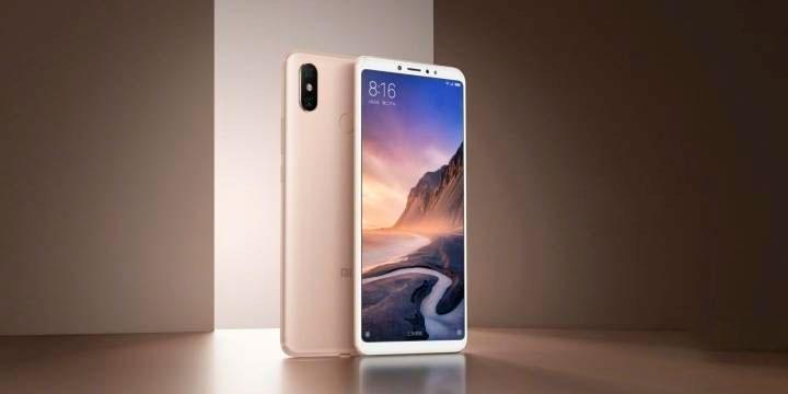 Новые золотистые Xiaomi Mi Max 3_изображение уже в сети - смартфон в золотом цвете