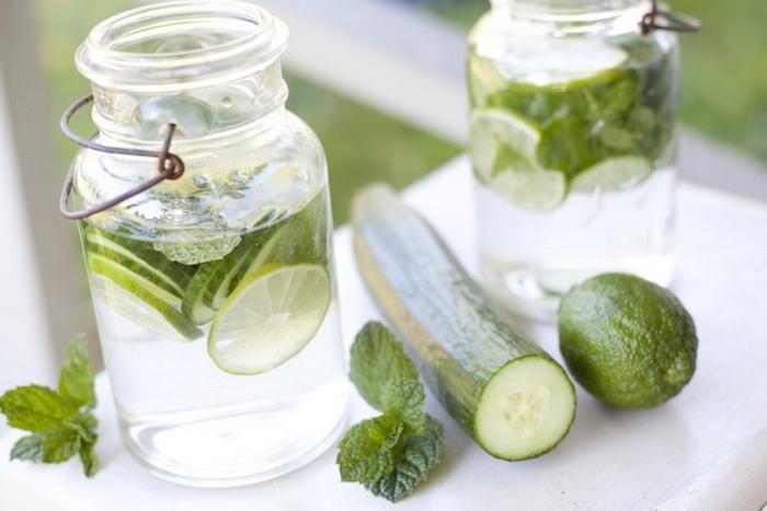 Огуречная вода-с лимоном