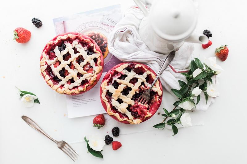 Открытый пирог-подача