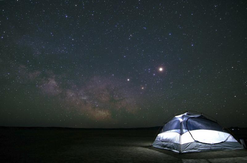 camping-galaxy night sky
