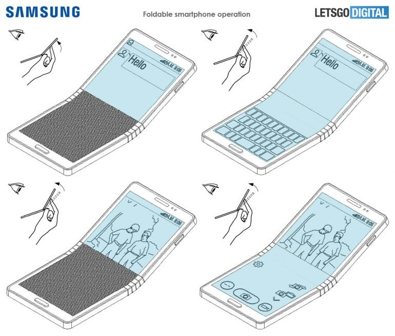 Гибкий смартфон Samsung Galaxy X 4a