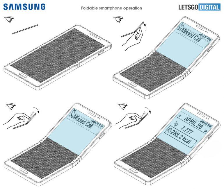 Гибкий смартфон Samsung Galaxy X 5