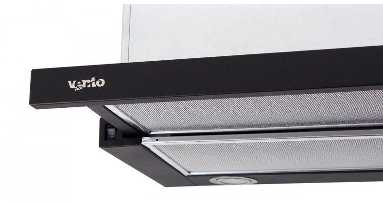 Лучшие встраиваемые вытяжки для маленькой кухни - Ventolux GARDA 60 BK (650) IT H