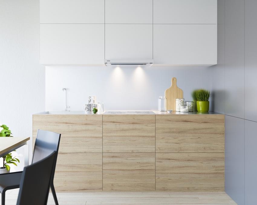 Лучшие встраиваемые вытяжки для маленькой кухни - встраиваемая вытяжка в интерьере кухни