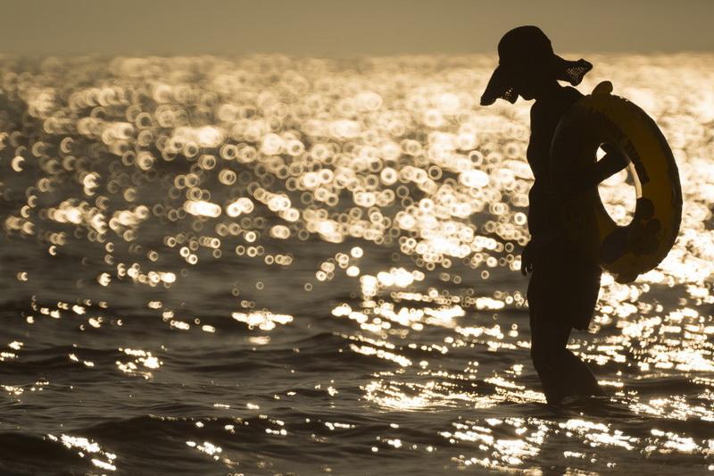 Море на закате-фото