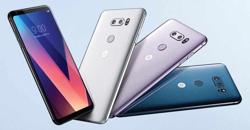 Ожидаемый смартфон LG V40 дата выхода и стоимость - смартфон в разных цветах