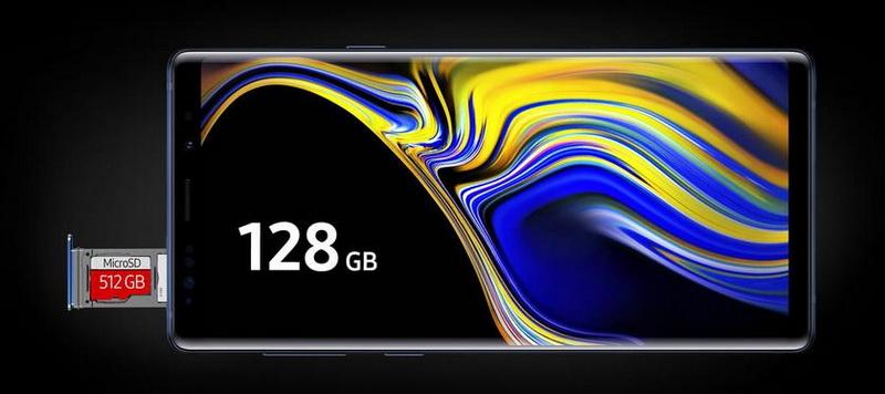 Samsung Galaxy Note 9-объем памяти