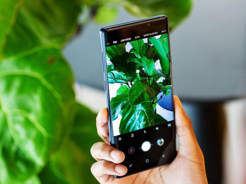 Samsung Galaxy Note 9-работа камеры