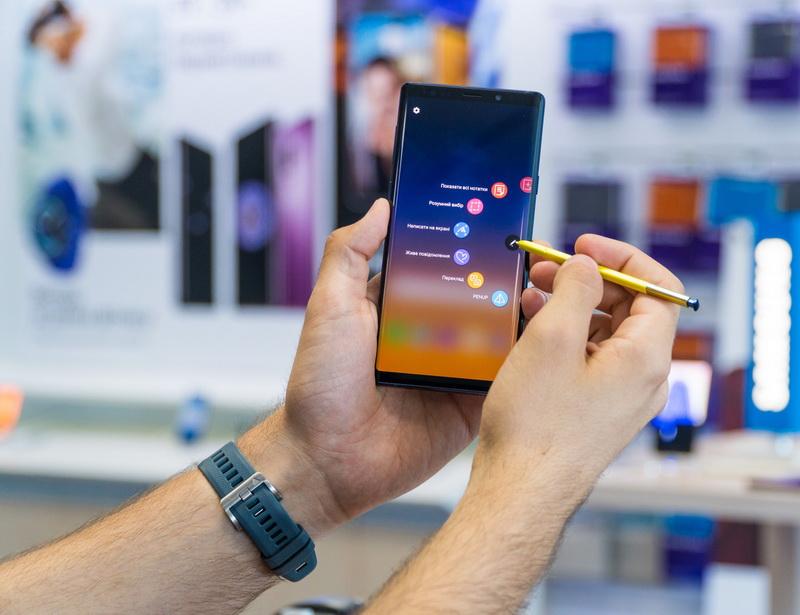 Samsung Galaxy Note 9-работа со стилусом