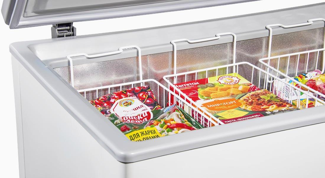 Замораживайте молниеносно обзор морозильных камер с функцией быстрой заморозки - продукты в морозильном ларе