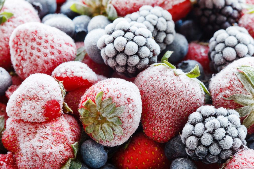 Замораживайте молниеносно обзор морозильных камер с функцией быстрой заморозки - замороженные фрукты