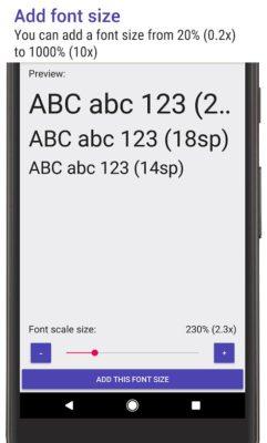 Big Font Size (приложение Big Font Size)