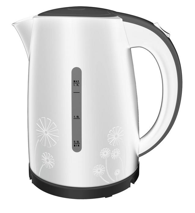 Чайник белого цвета-общий вид