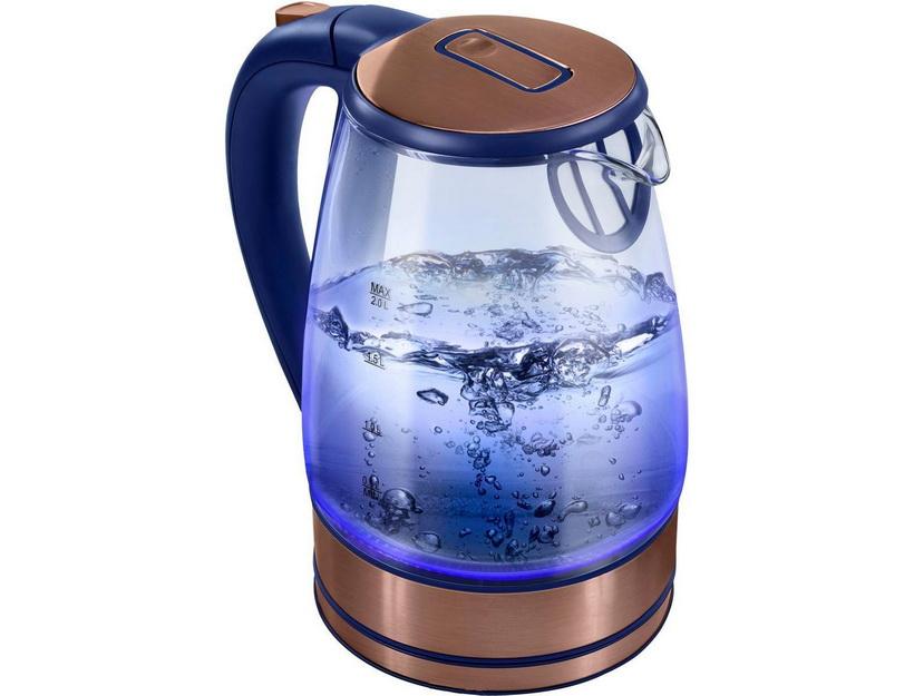 Голубая подсветка-стеклянный чайник