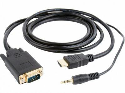HDMI to VGA + 3,5Jack (кабель HDMI – VGA с аудіороз'ємом 3,5 )