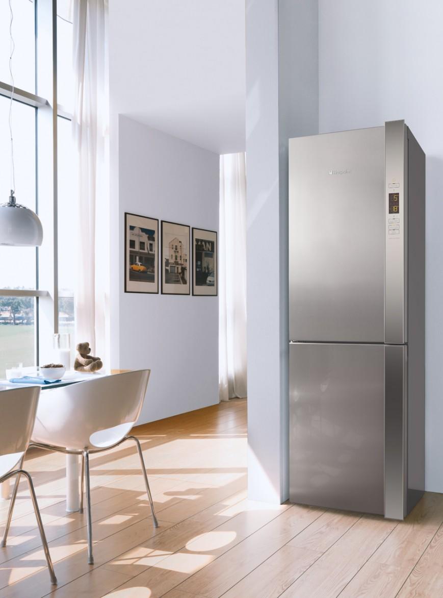 Холодильники Hotpoint Ariston _ лучши модели ТОП-ового бренда на рынке Украины - серый холодильник Аристон