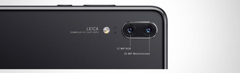 Huawei P20 Black-Новая двойная камера Leica