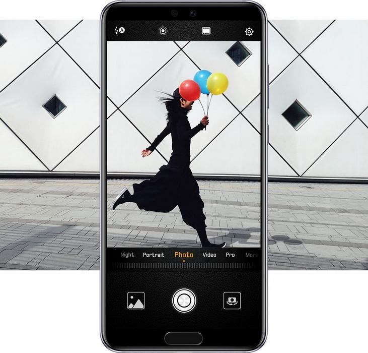 Huawei P20 Pro Black-съемка во время движения