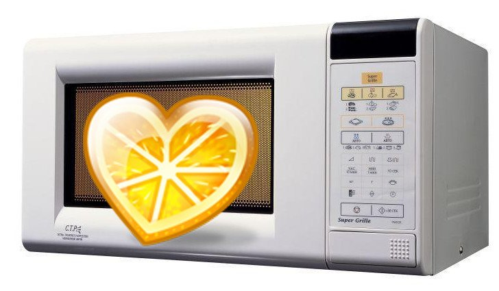 Как быстро легко вымыть микроволновку_бытовые лайфхаки - микроволновая печь и лимон