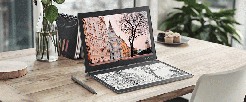 Lenovo Yoga Book C930-на столе
