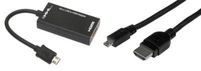 MHL (адаптер и кабель для MHL подключения)