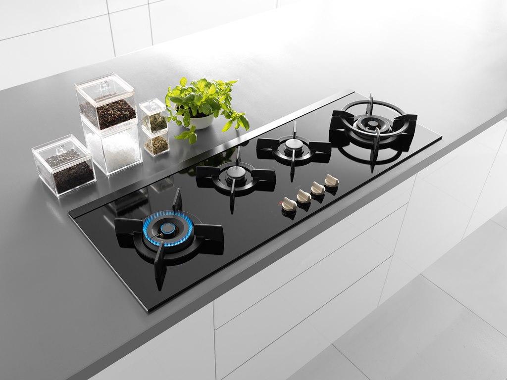 Обзор лучших варочных поверхностей из стеклокерамики - стеклокерамическая панель в интерьере кухни