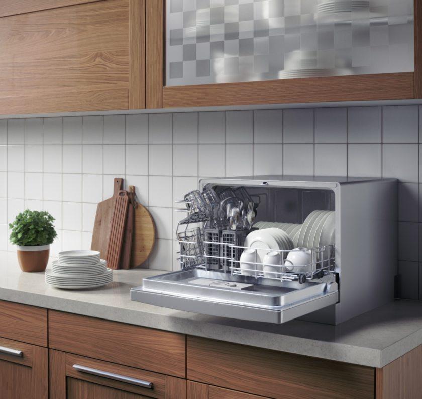 Посудомоечная машина для маленькой кухни_критерии выбора - компактная настольная посудомойка на кухне