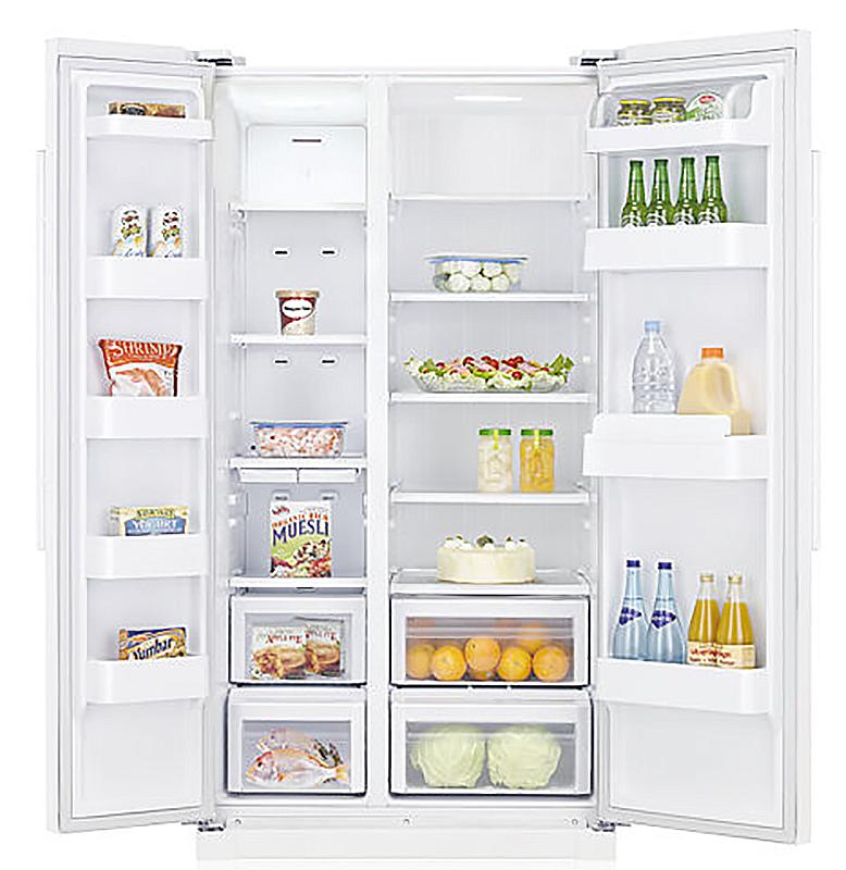 Запасаемся фруктами, ягодами и зеленью до холодов холодильники с объёмными морозилками - Samsung RS52N3203SA