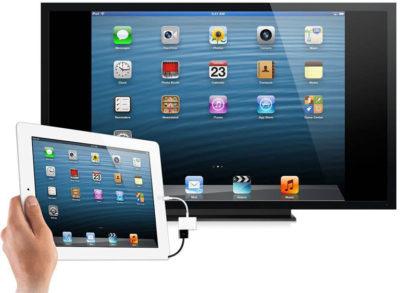 iPad_TV(подключение планшета iPad к телевизору)