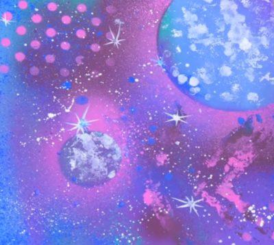 Картина с изображением солнечной системы