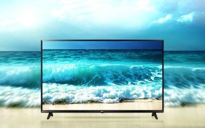 Телевизор на фоне моря