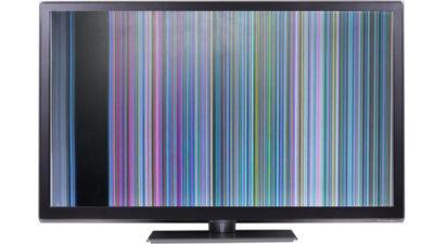 Полосы на экране телевизора - поломка