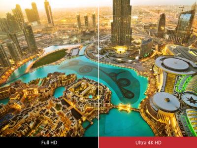 Різниця між Full HD і 4K Ultra HD