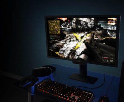 Игровой монитор LG с включенной игрой