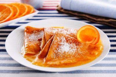 «Блины с апельсиновым соусом»
