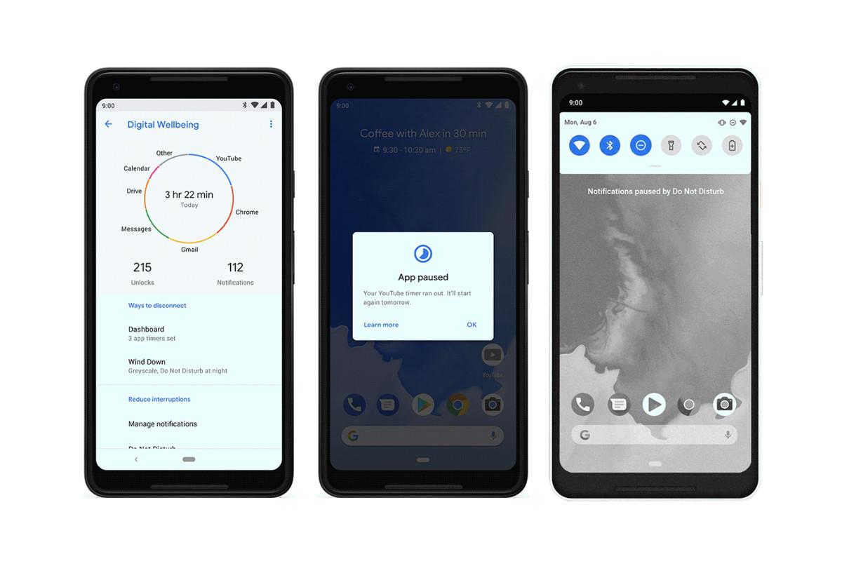 9 фишек нового Android 9 pie - панель информации dashboard