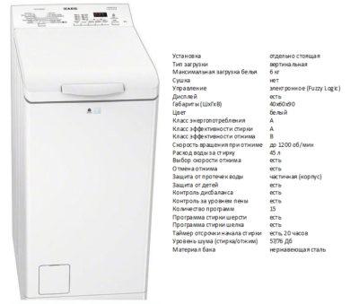 AEG L56126TL (пральна машина AEG L56126TL)