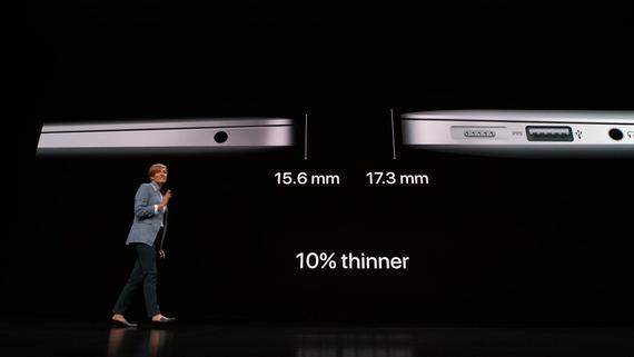 Apple MacBook Air 2018-толщина корпуса устройства
