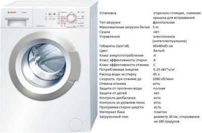 Bosch WLG 20060 (стиральная машина Bosch WLG 20060)