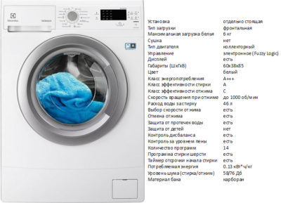 Electrolux EWS1064SAU (стиральная машина Electrolux EWS1064SAU)
