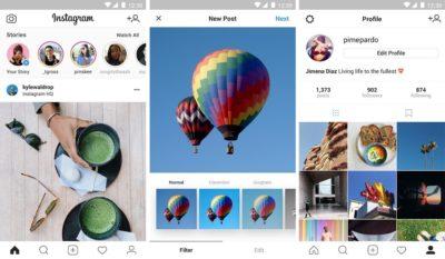 Скриншоты программы Instagram – лента, новые посты, профиль
