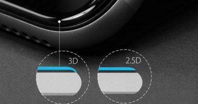 Визуальное сравнение стёкол 2.5D и 3D