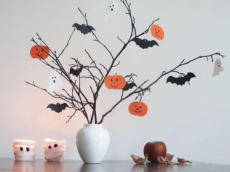 Halloween Decorations-дерево с привидениями