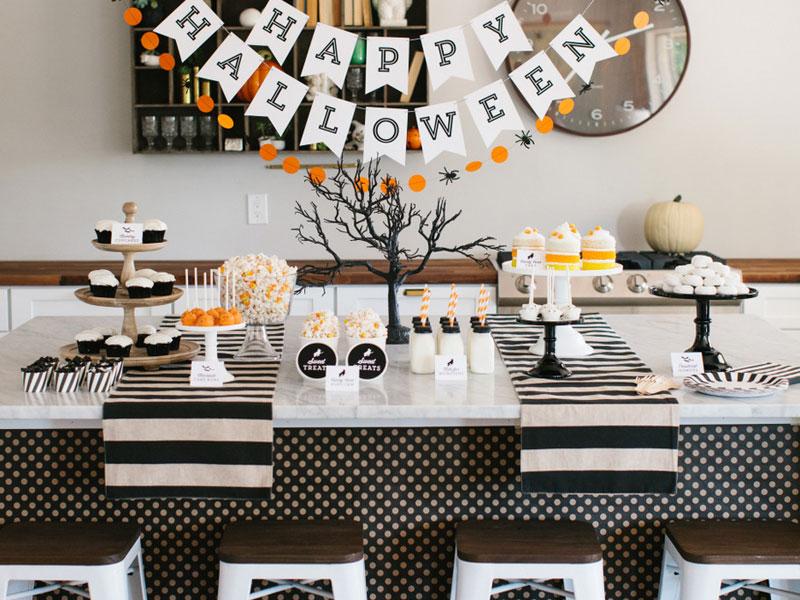 Halloween Decorations-праздничный стол сервировка и декор