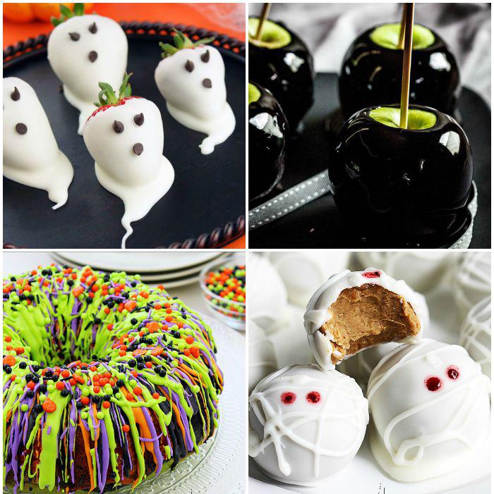 Halloween food-страшная подача блюд коллаж