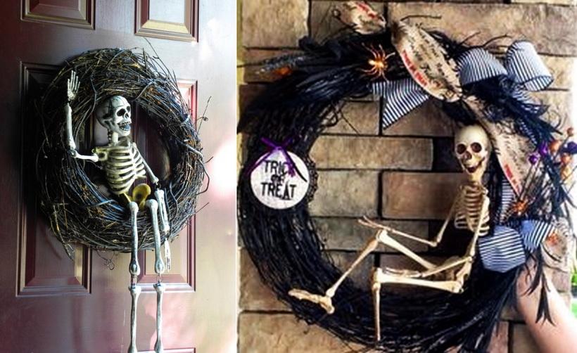 Halloween-венок на дверь