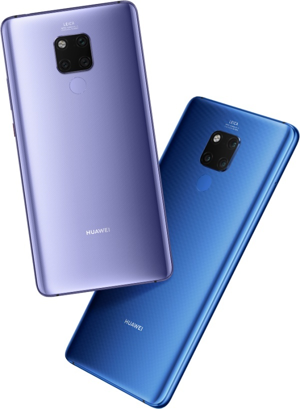 Huawei Mate 20X-Silver Violet и Midnight Blue